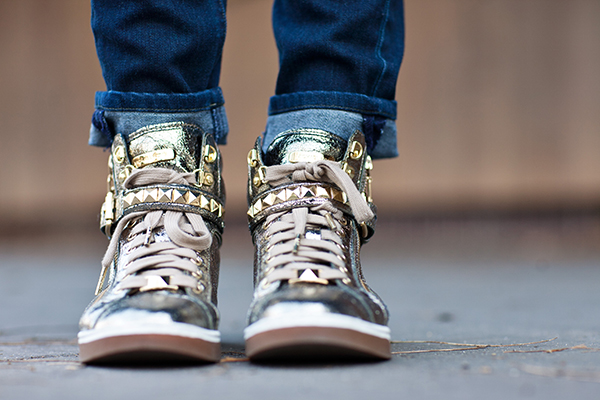Michael Kors Gold Sneakers via http://withach.com