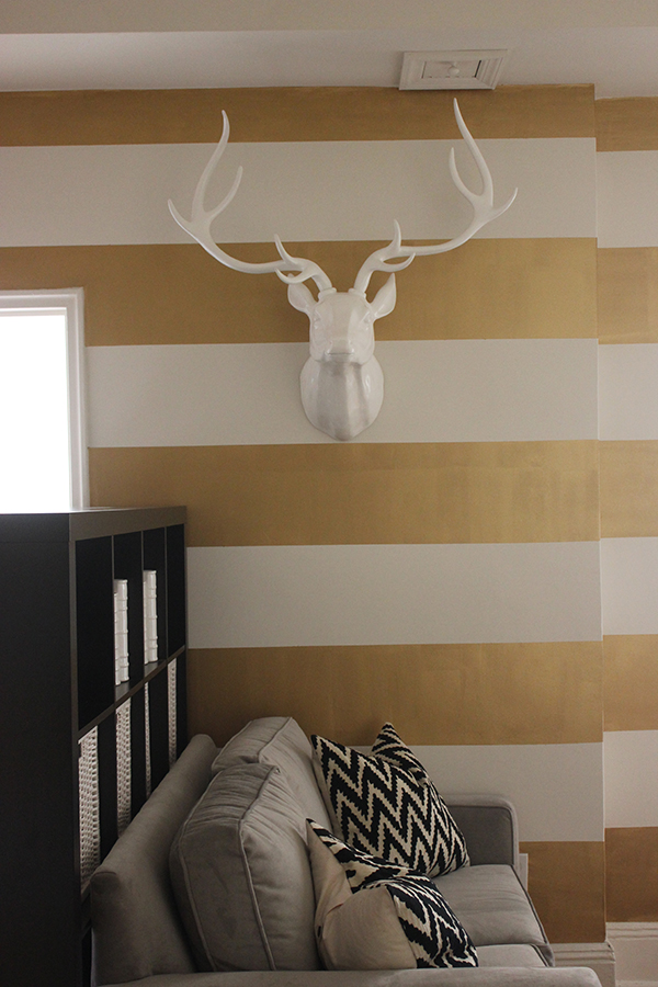 antlers & gold stripes | via http://www.withach.com