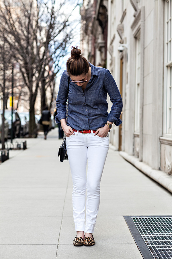 outfit: white denim weather - With a CH