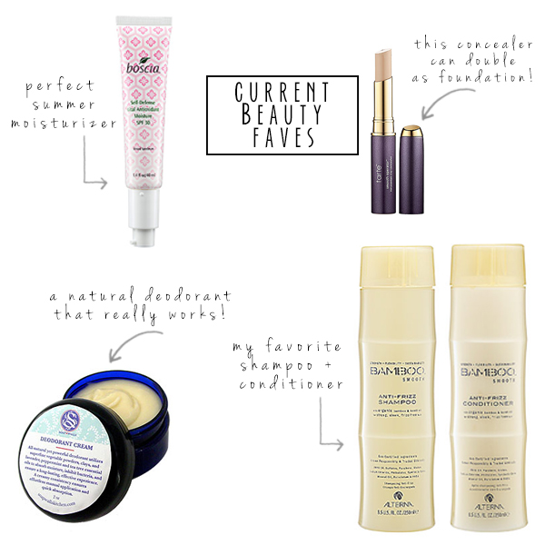 current green beauty faves | via withach.com