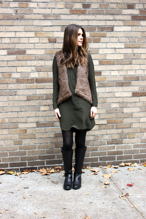 outfit: fatigue green