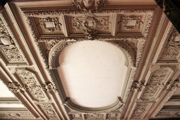 vanderbilt mansion hyde park ceiling detail